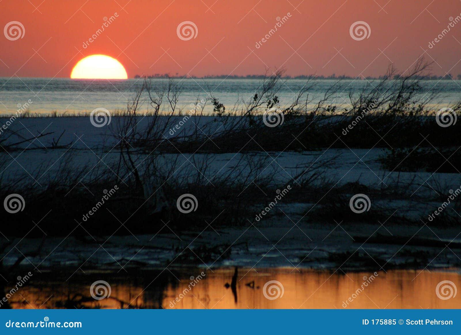 Puesta del sol del amante