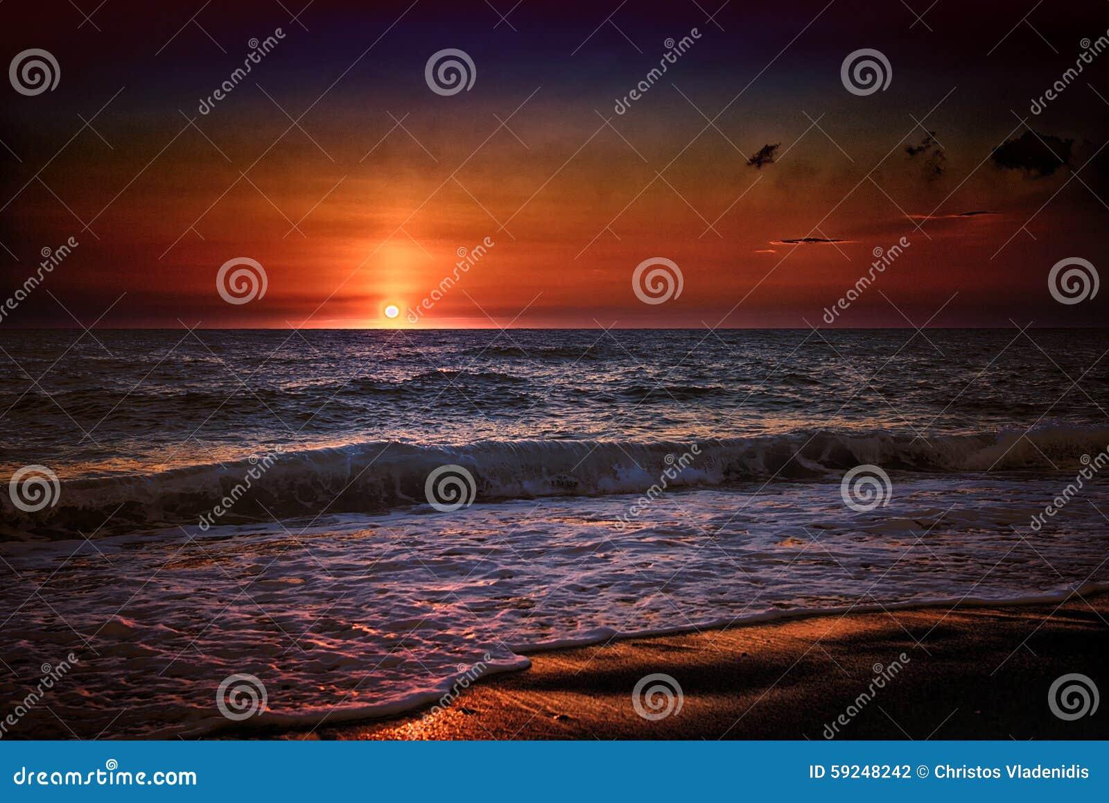 Puesta del sol del verano