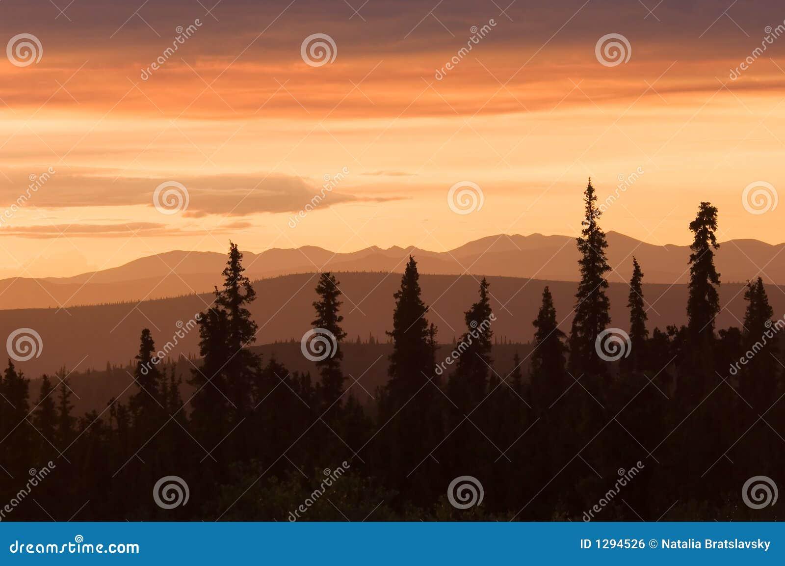 Puesta del sol en Alaska