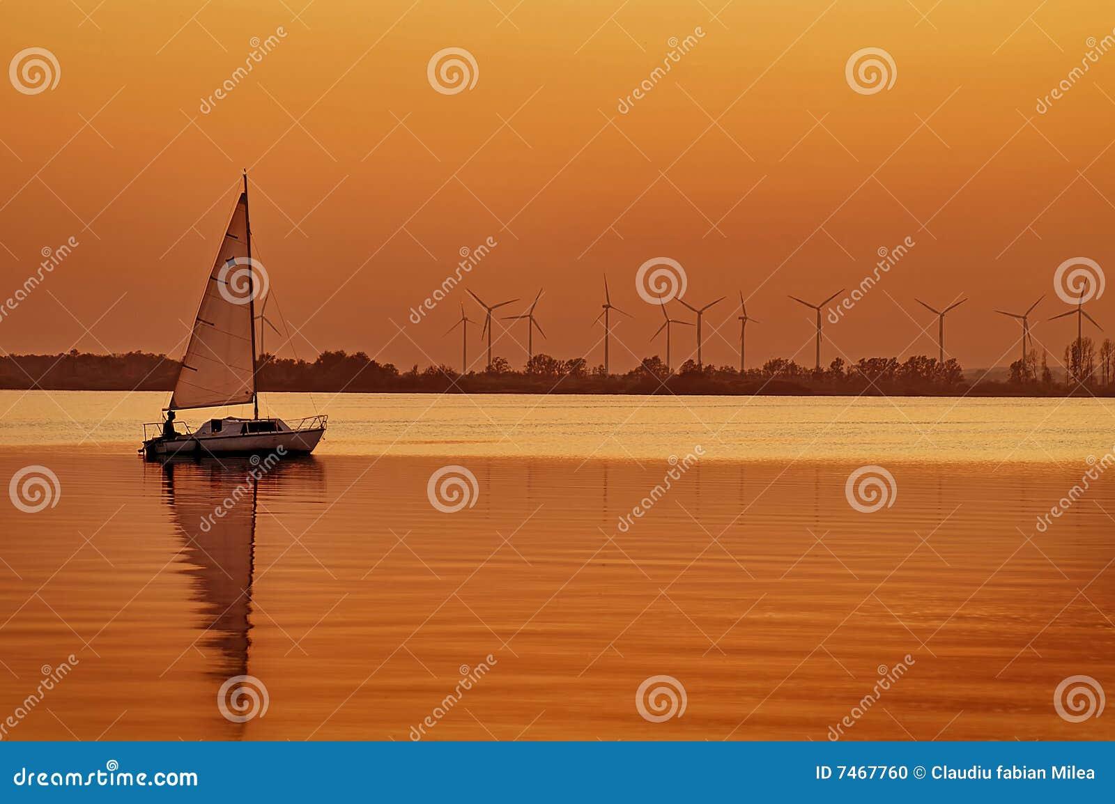 Puesta del sol en el lago Dummer
