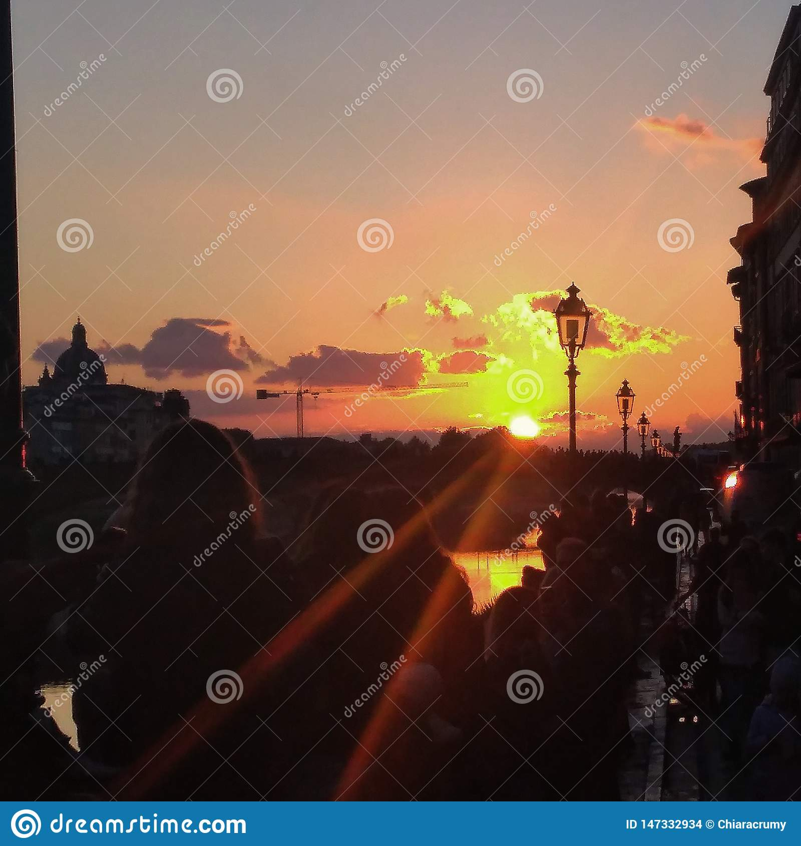 Puesta del sol en Florencia