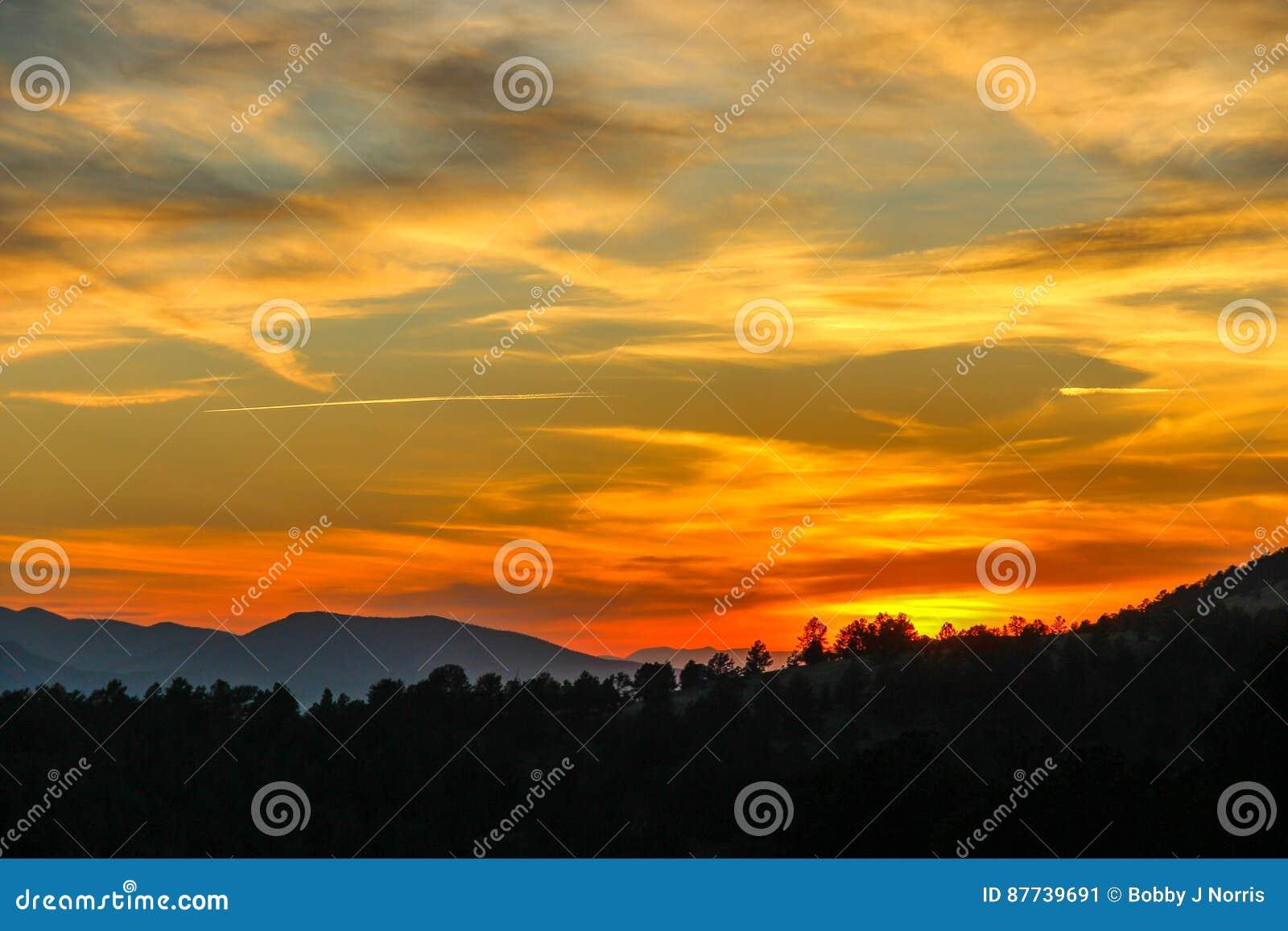 Puesta del sol en la cala Colorado del lisiado