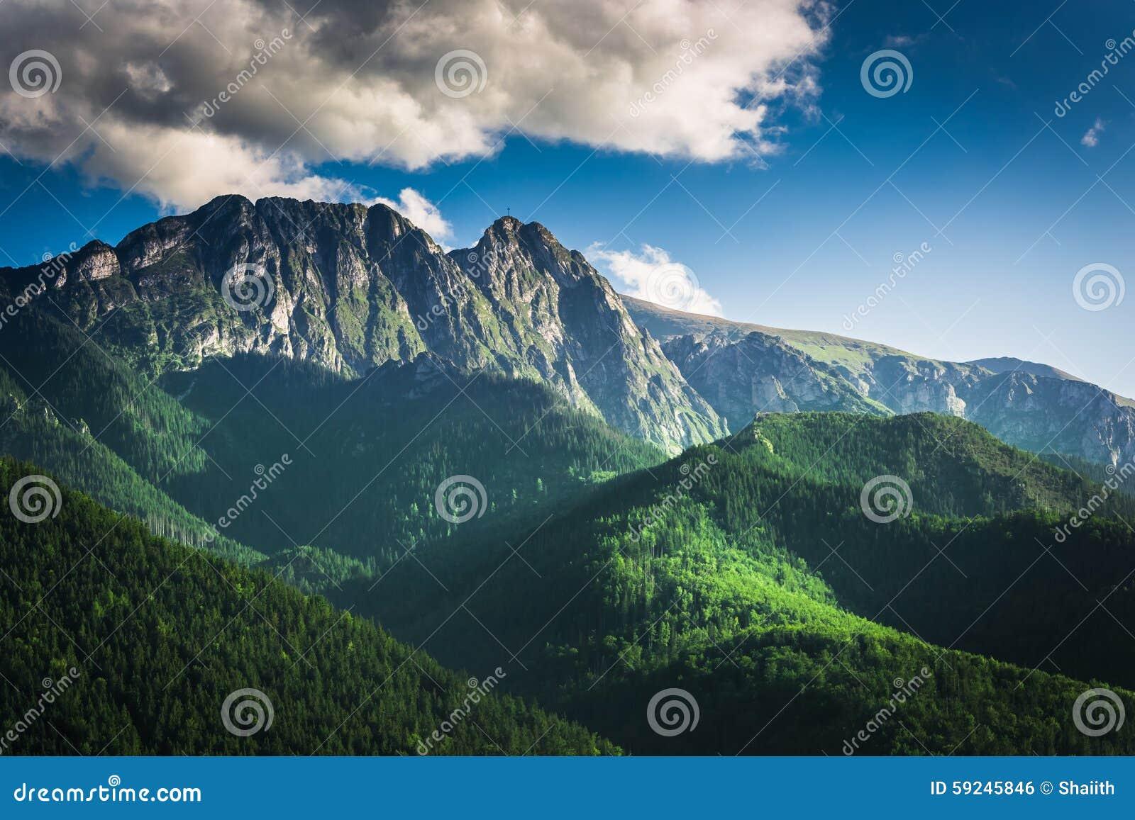 Download Puesta Del Sol En Las Montañas De Tatra En Verano Foto de archivo - Imagen de polonia, azul: 59245846