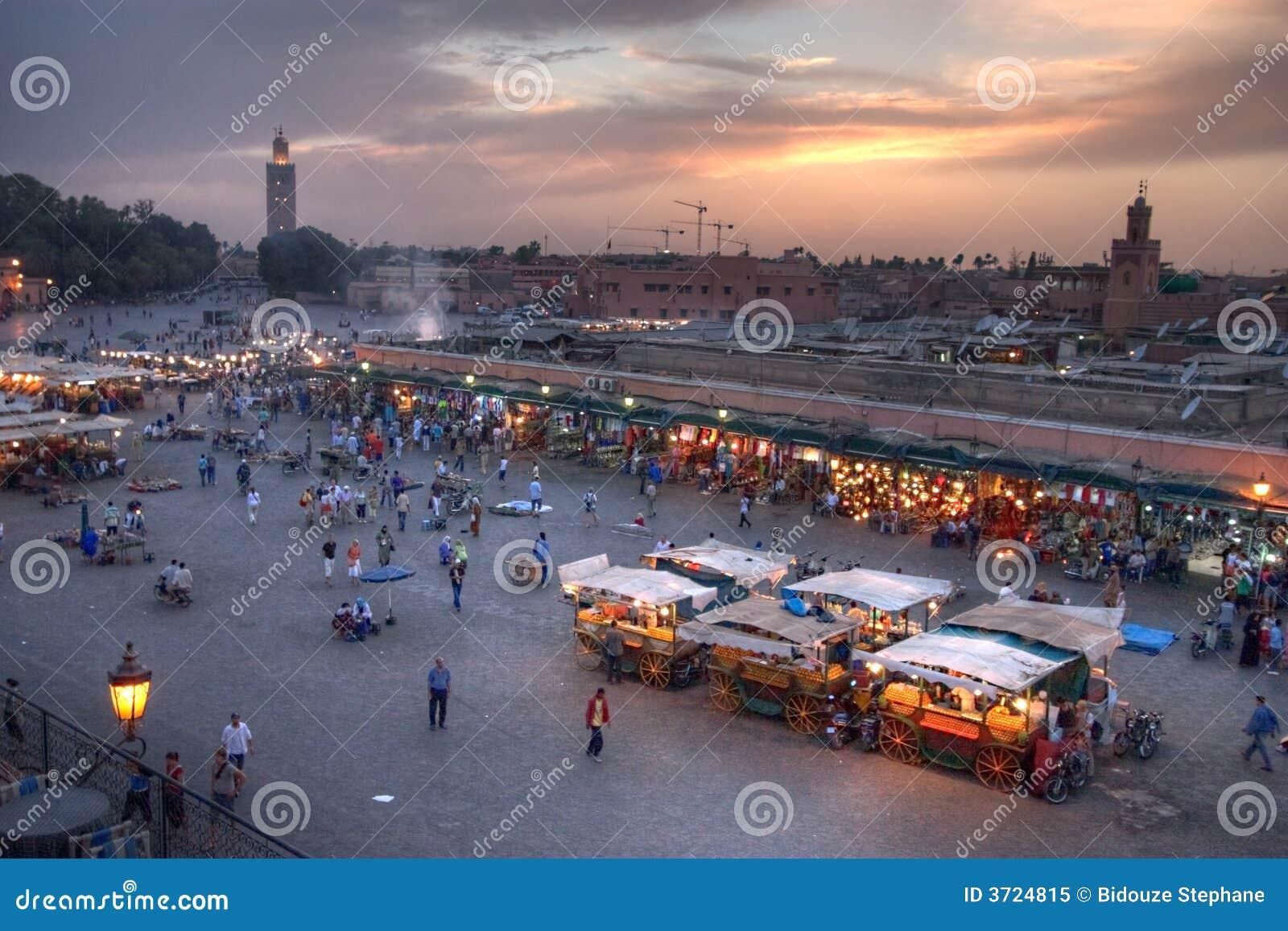 Puesta del sol en Marrakesh