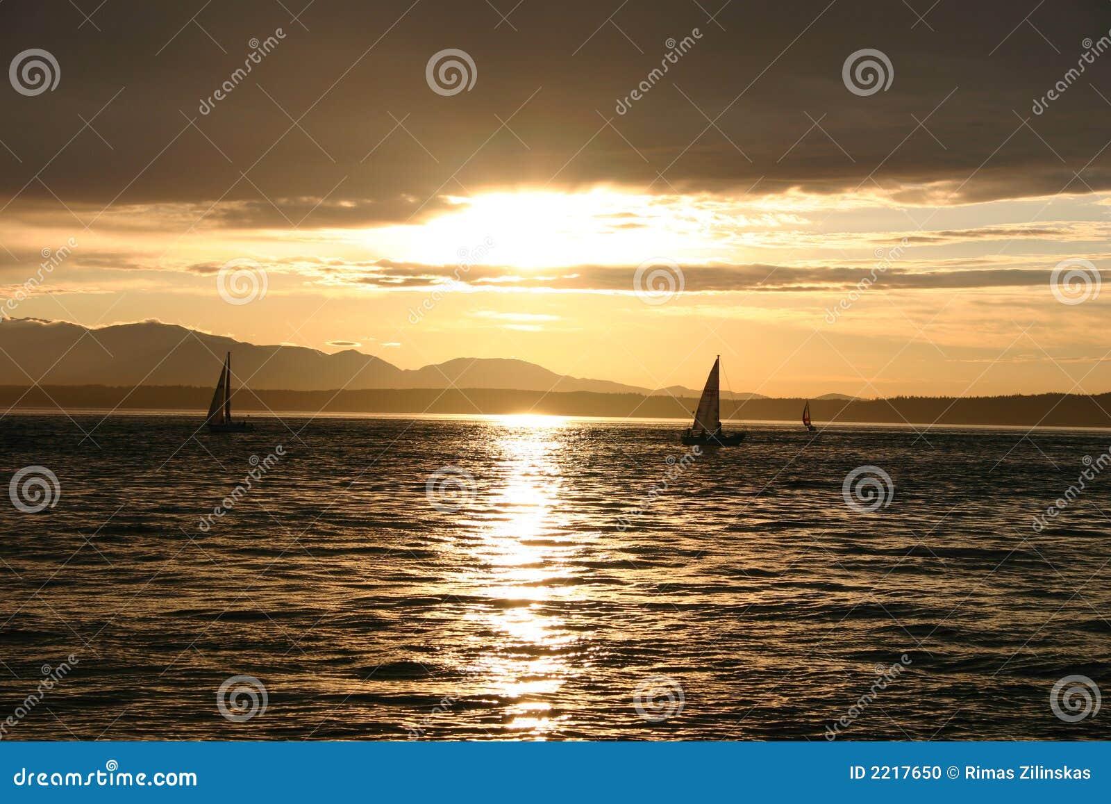 Puesta del sol en Seattle