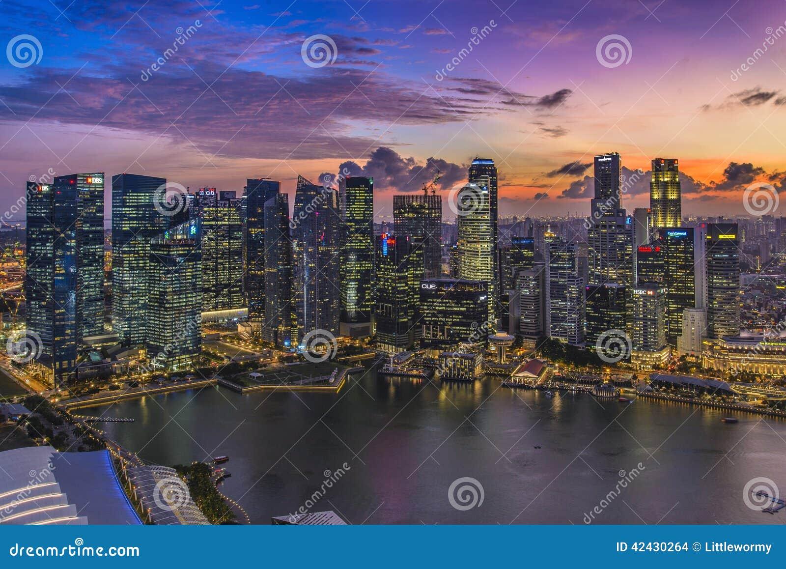 Puesta del sol en Singapur