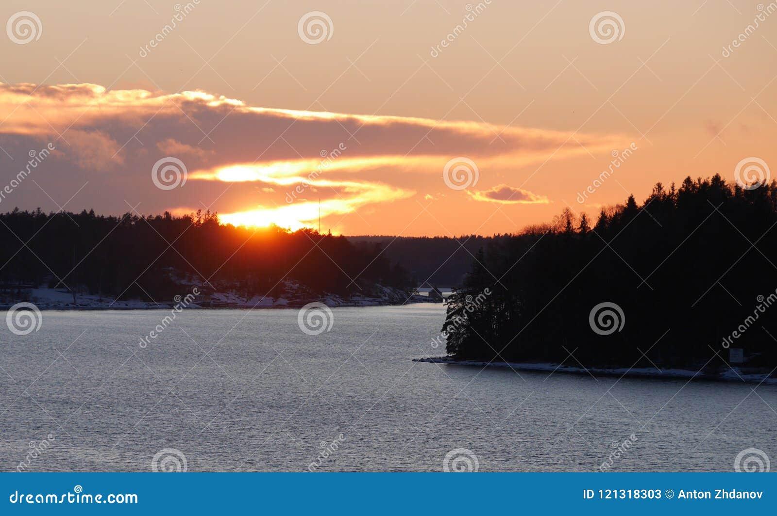 Puesta del sol en Suecia