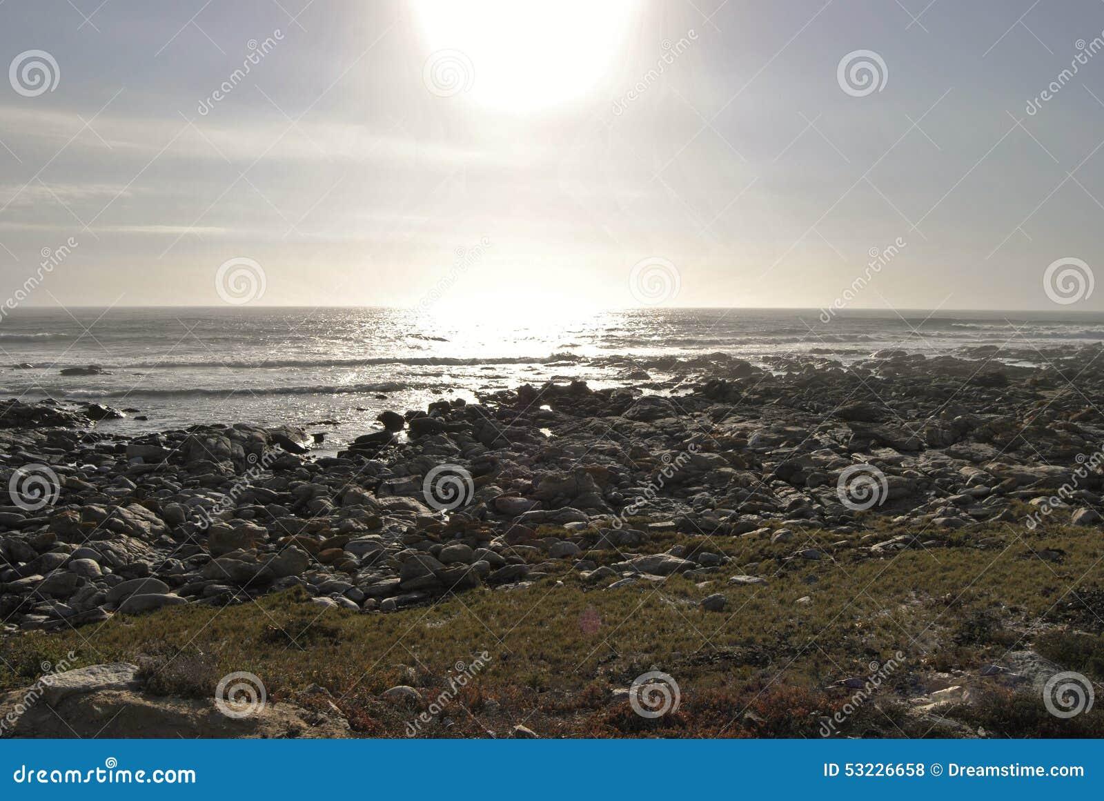 Puesta del sol en Westcoast Suráfrica