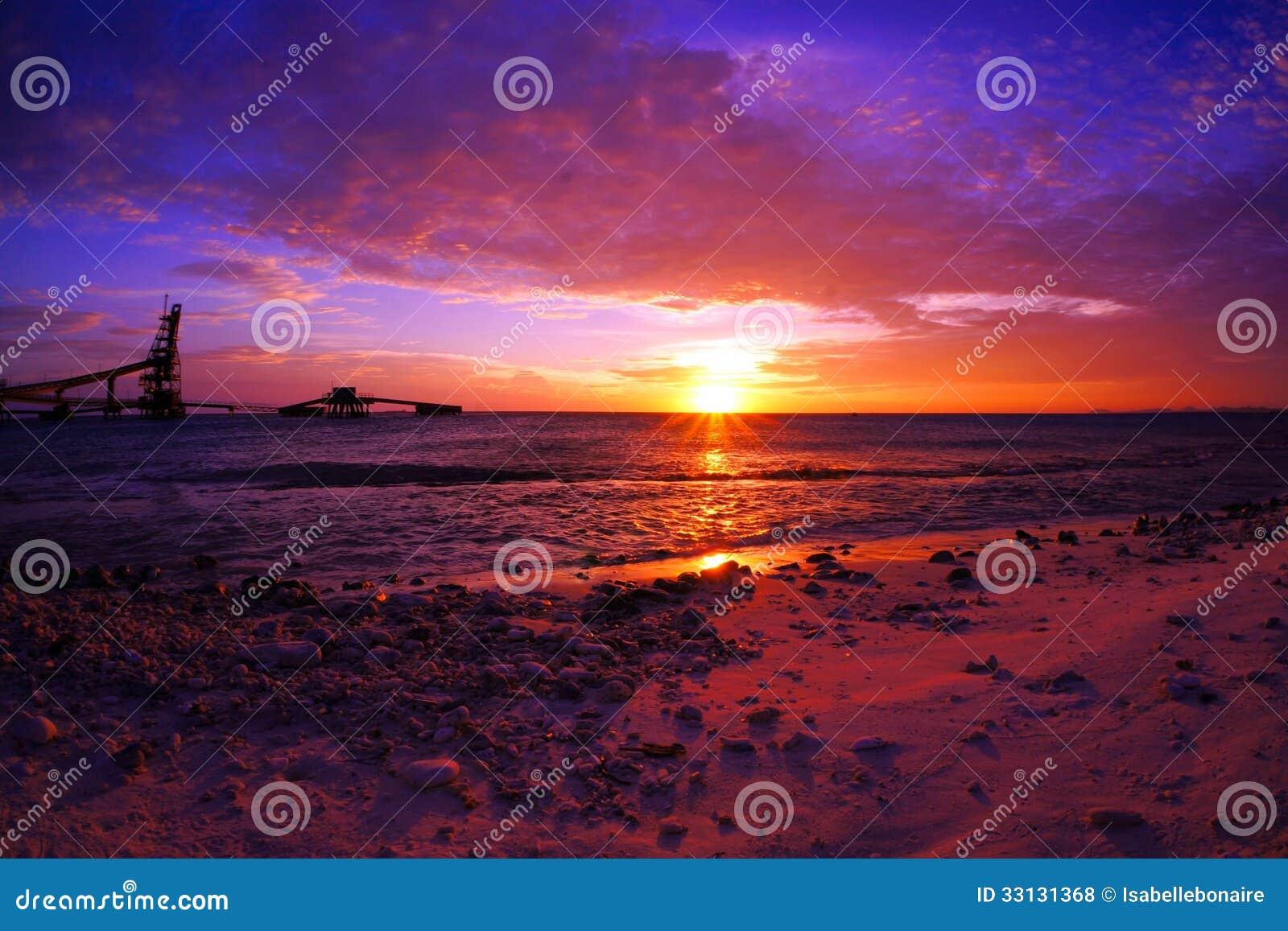 Puesta del sol escénica dramática