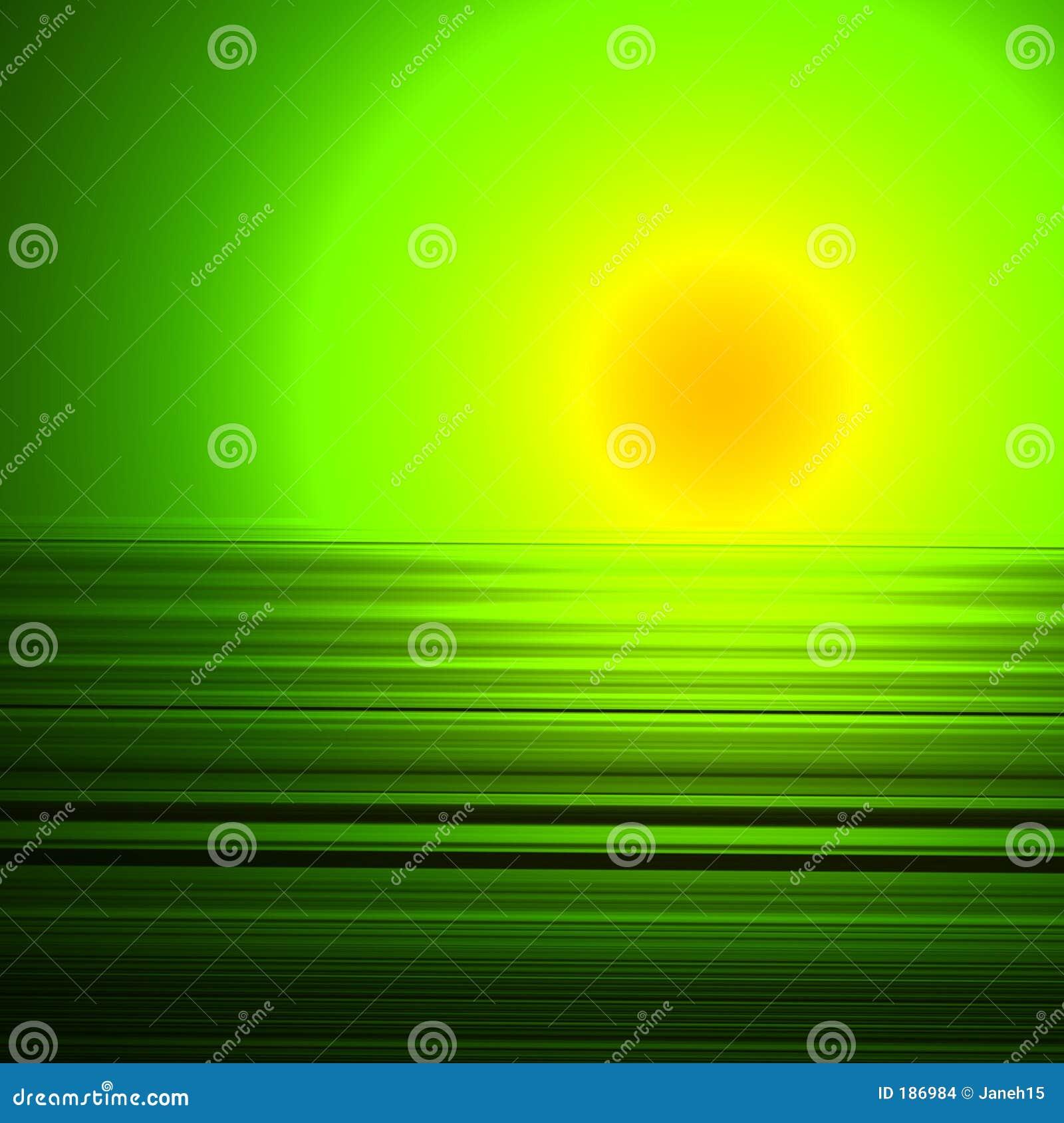 Puesta del sol extranjera