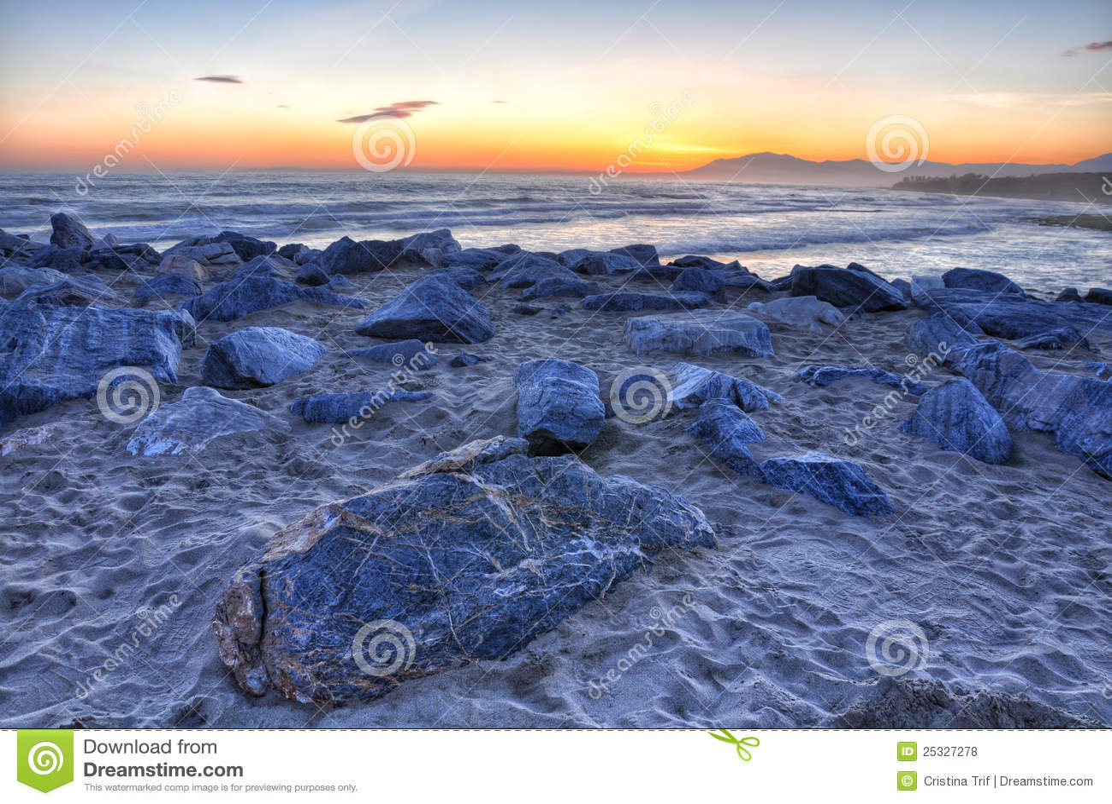 Puesta del sol hermosa 3 de Costa del Sol