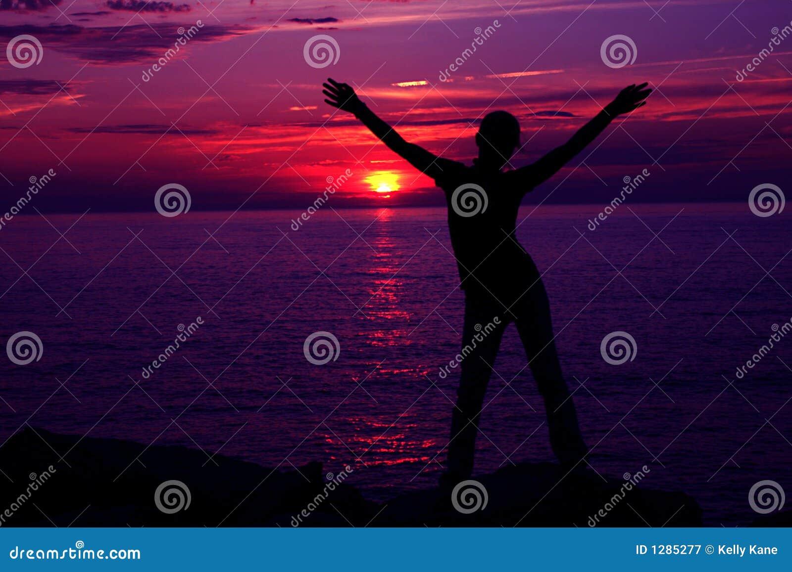 Puesta del sol Silhoette