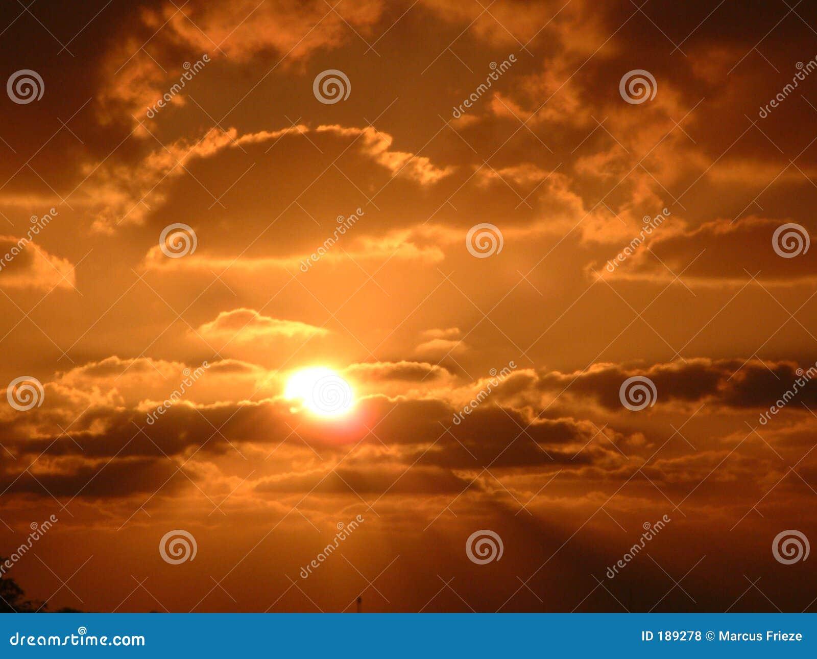 Puesta del sol sobre Israel meridional