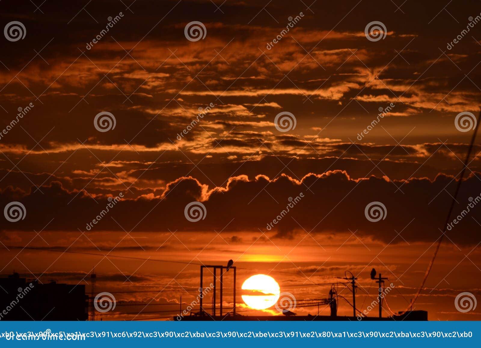 Puesta del sol del verano de St Petersburg