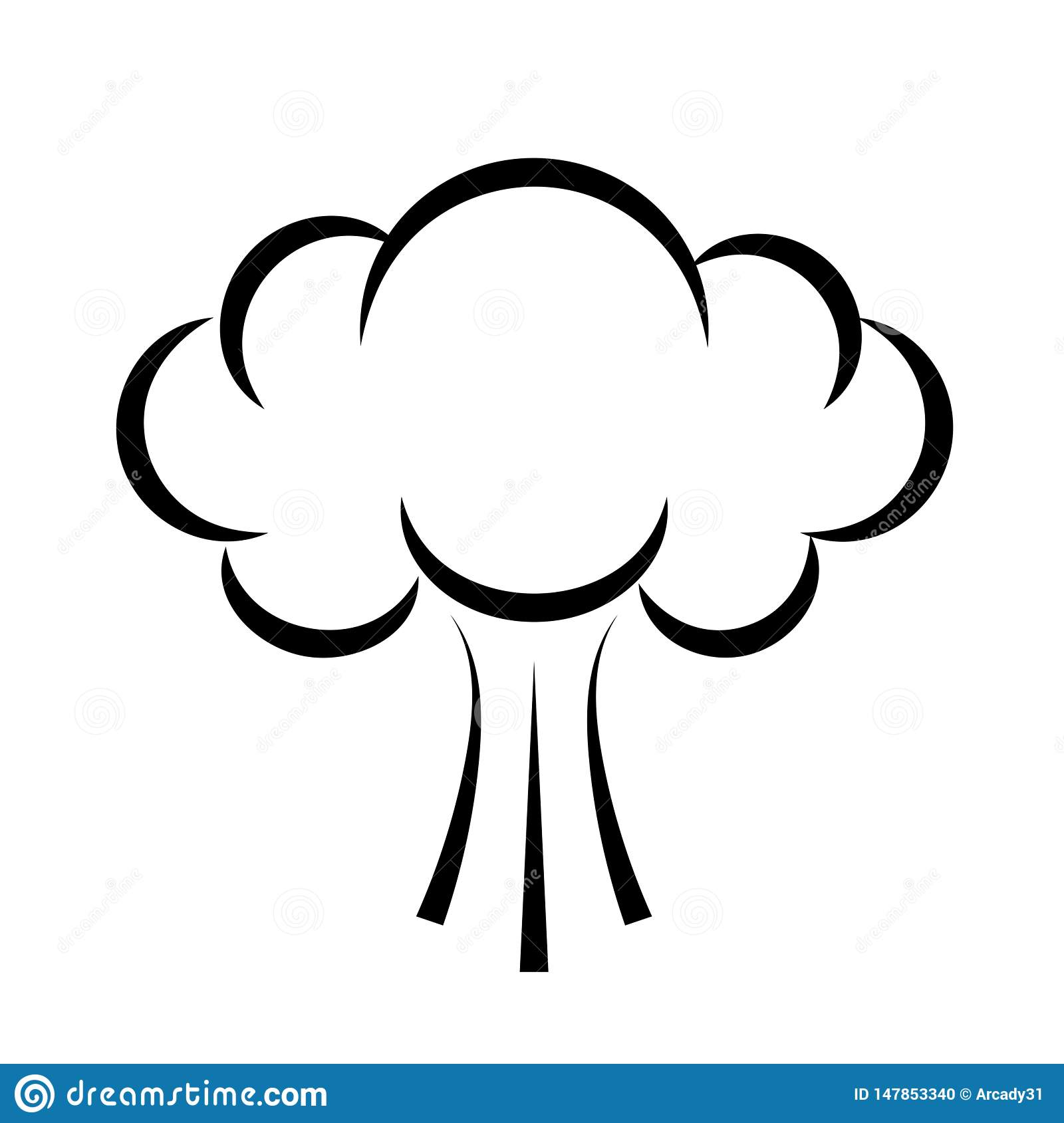 It is a photo of Old Fashioned Smoke Cloud Drawing