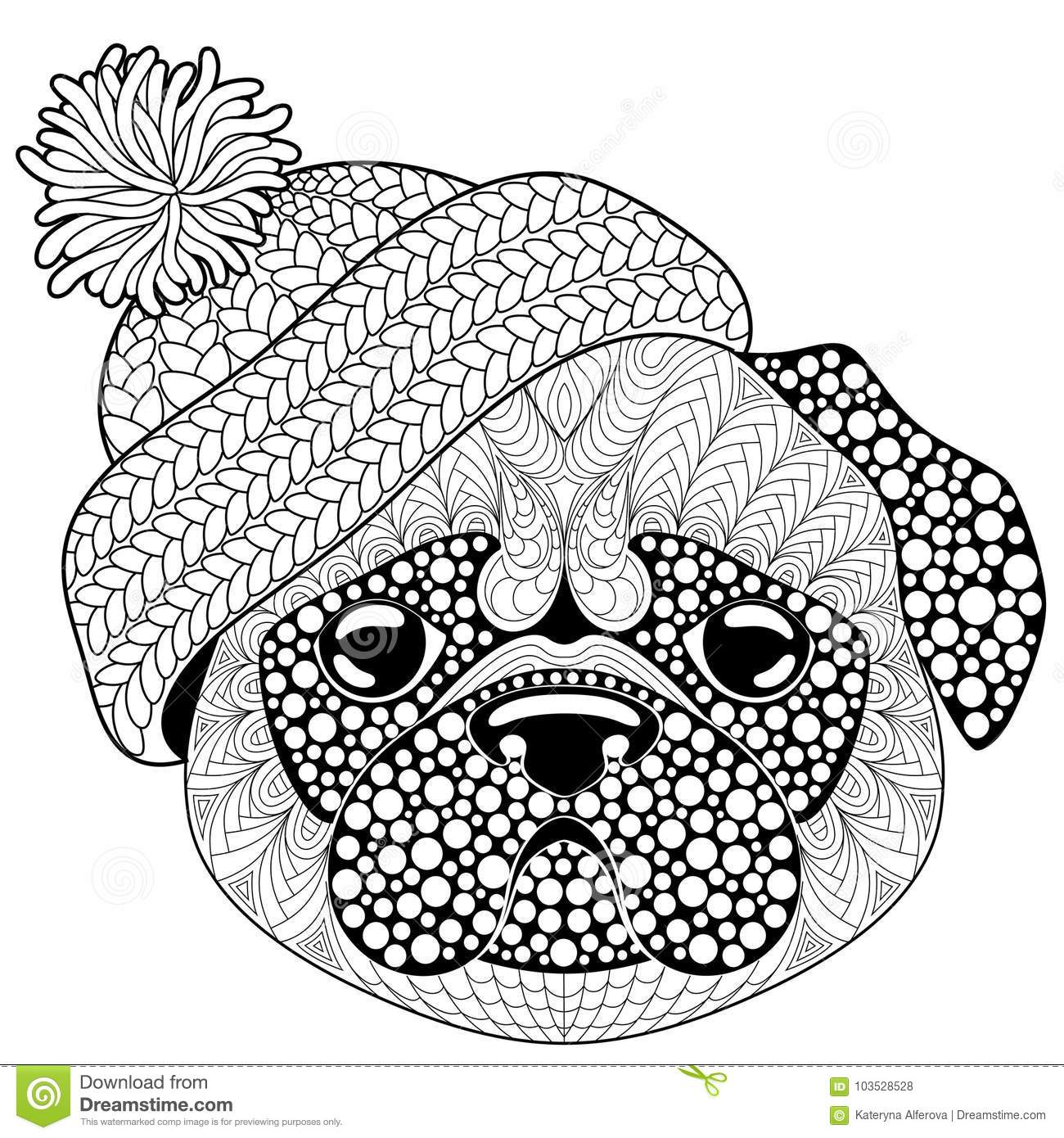 Printable Pug Coloring Pages - Coloring Home | 1390x1300
