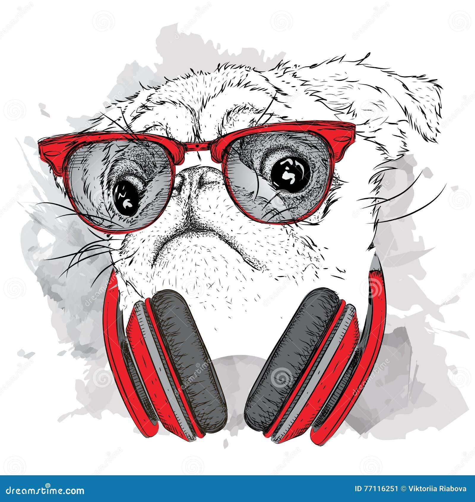 Beast Pug With Glasses