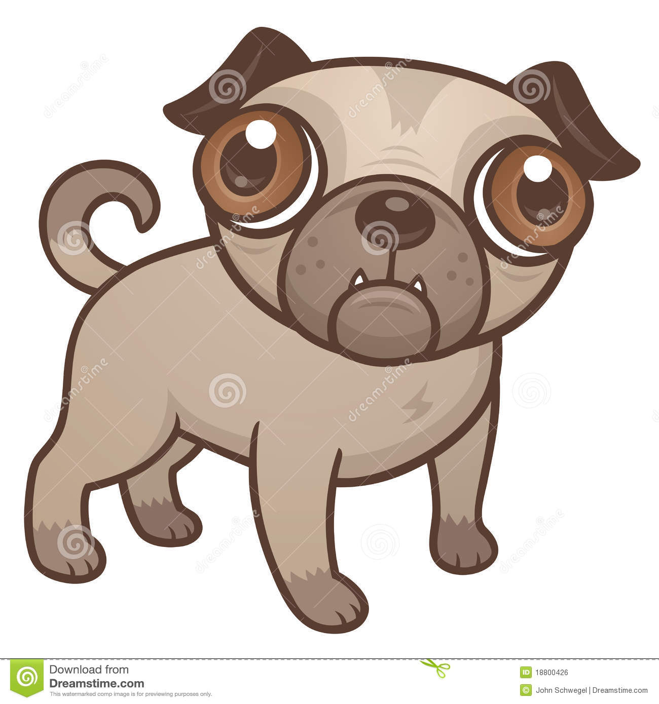 pug puppy cartoon stock vector illustration of puppy 18800426 rh dreamstime com funny cartoon puppy pictures cartoon puppy images to draw