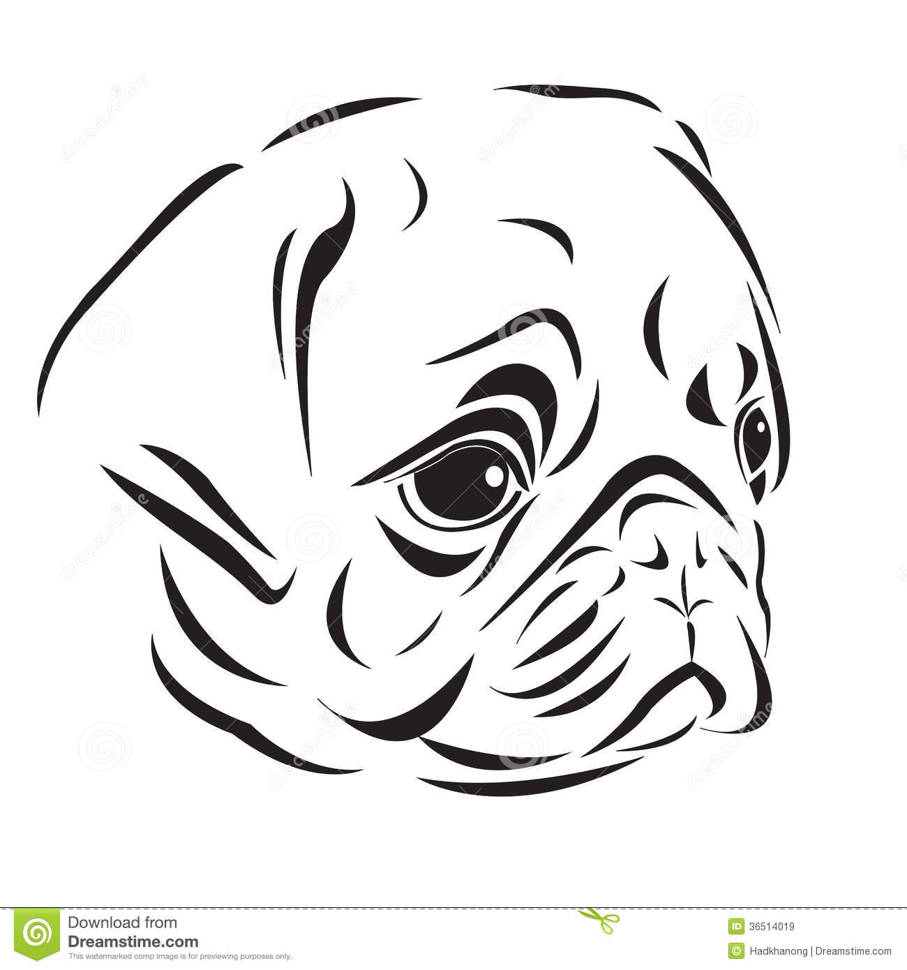 Pug Face Line Drawing : Pug line drawing pictures to pin on pinterest daddy