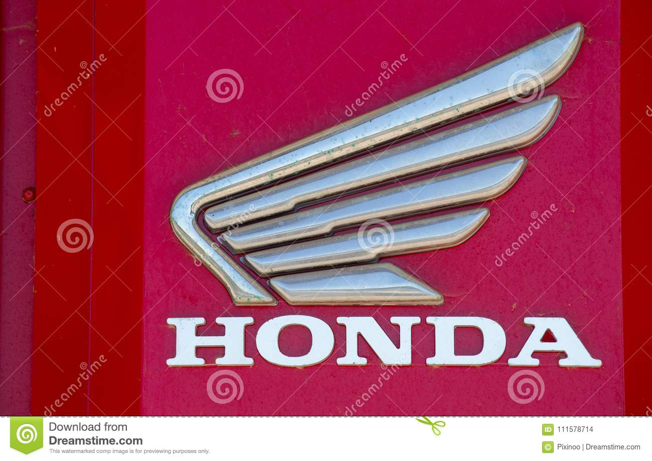 Download Honda Name With Logo Outside Shop Editorial Stock Image