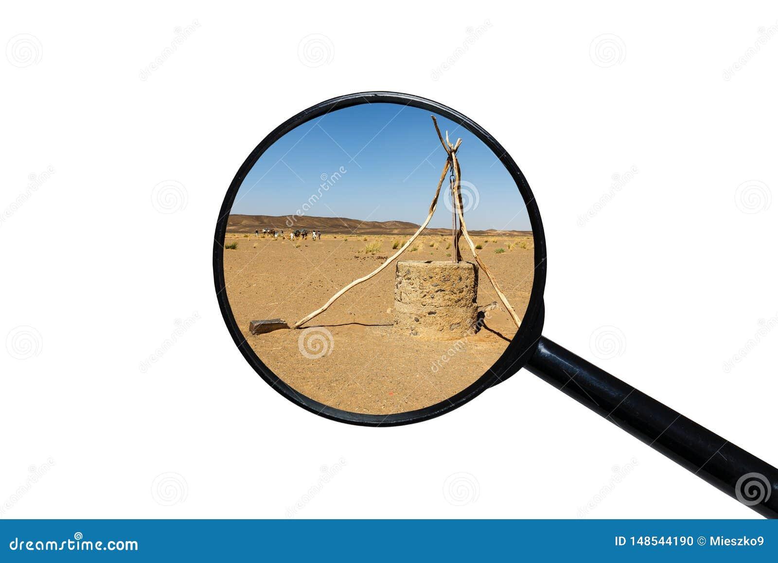 Puits d eau dans le d?sert du Sahara
