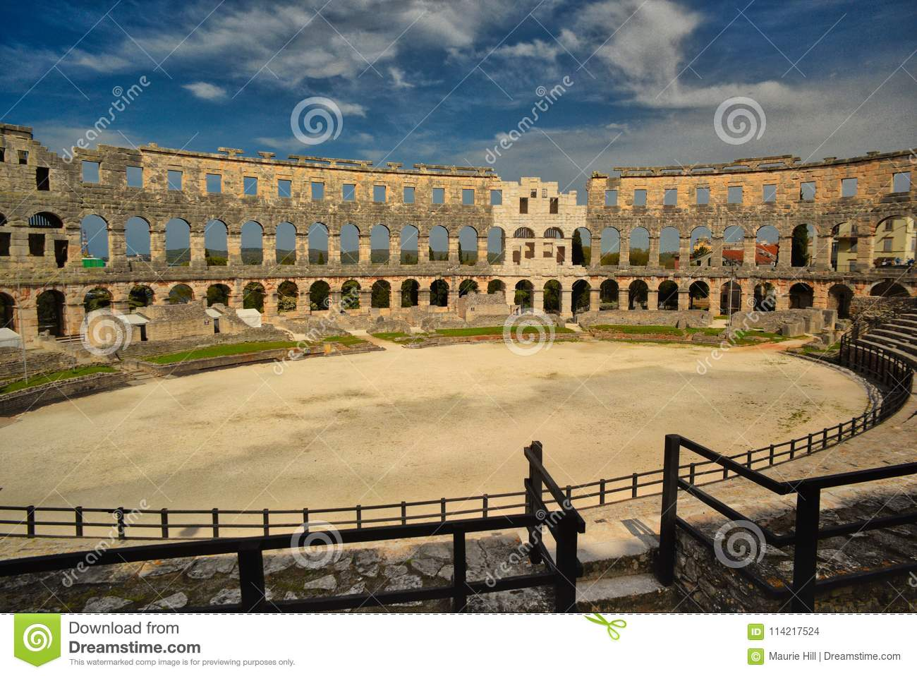 Roman Arena, Pula, Croatia stock photo  Image of entirely