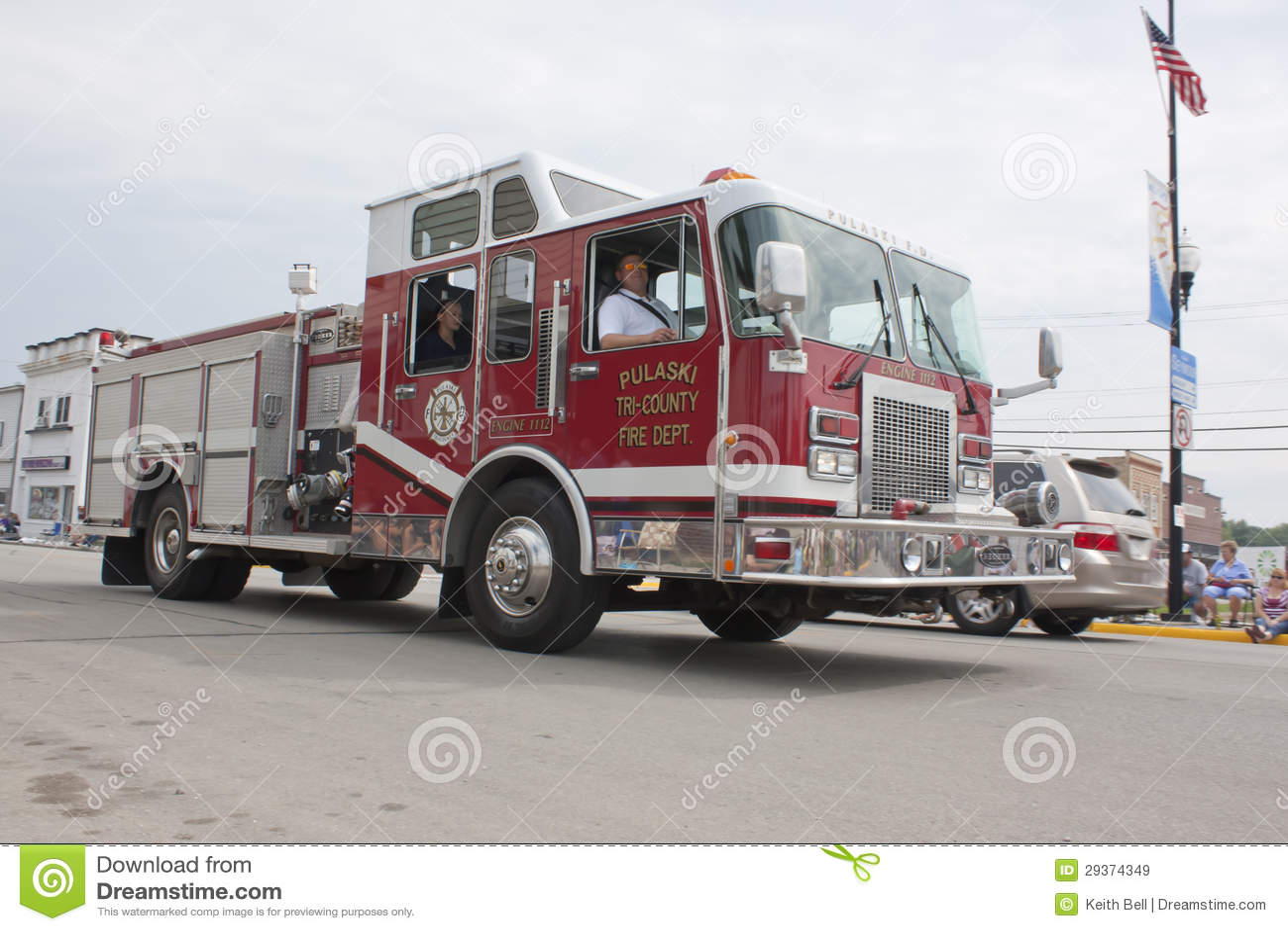 Pulaski三县引擎1112年救火车编...