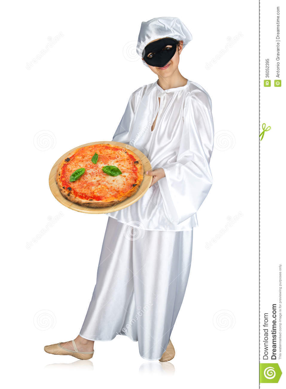 Pulcinella And Pizza Royalty Free Stock Photo - Image ...