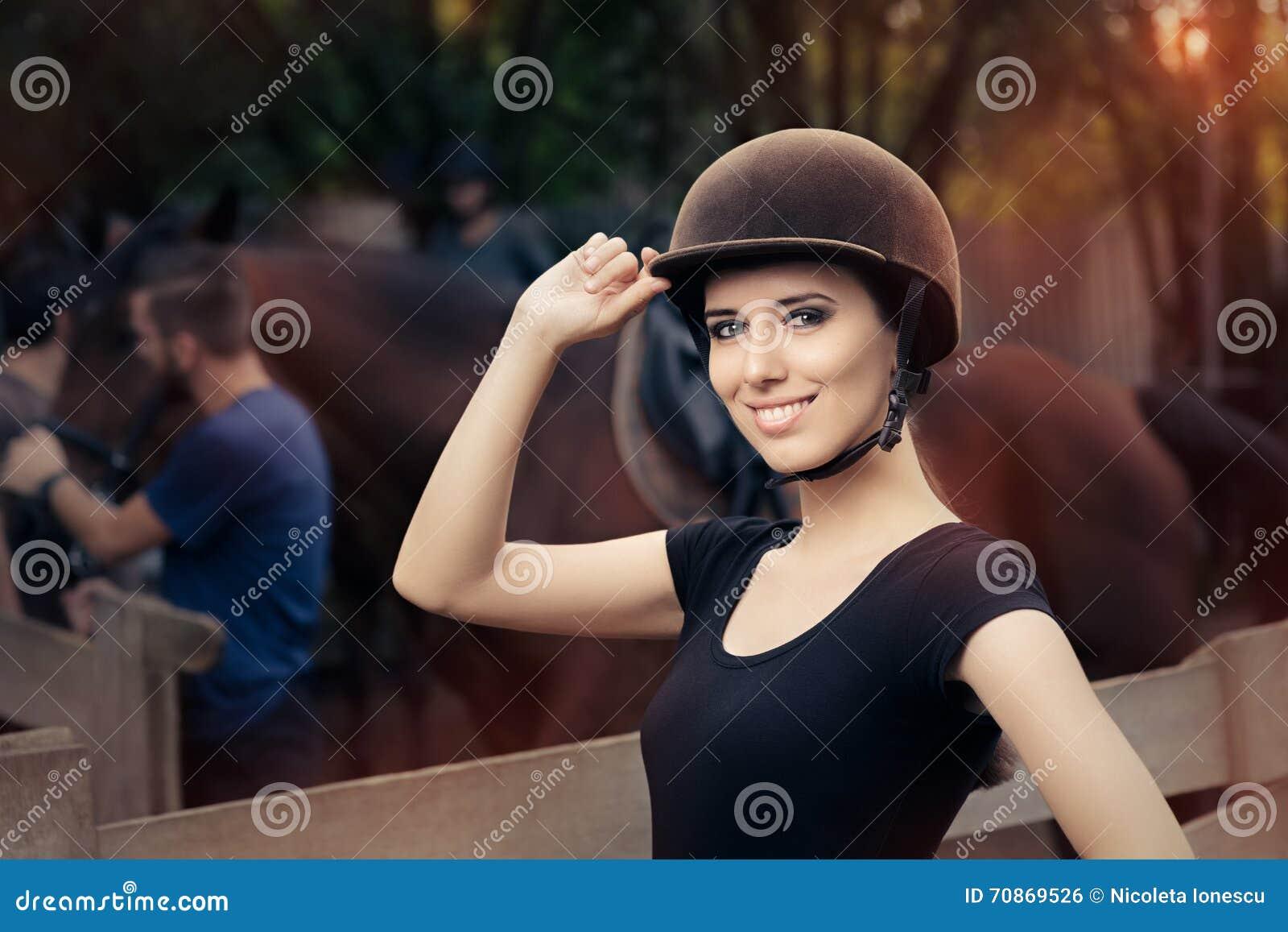Puleggia tenditrice femminile felice Smiling