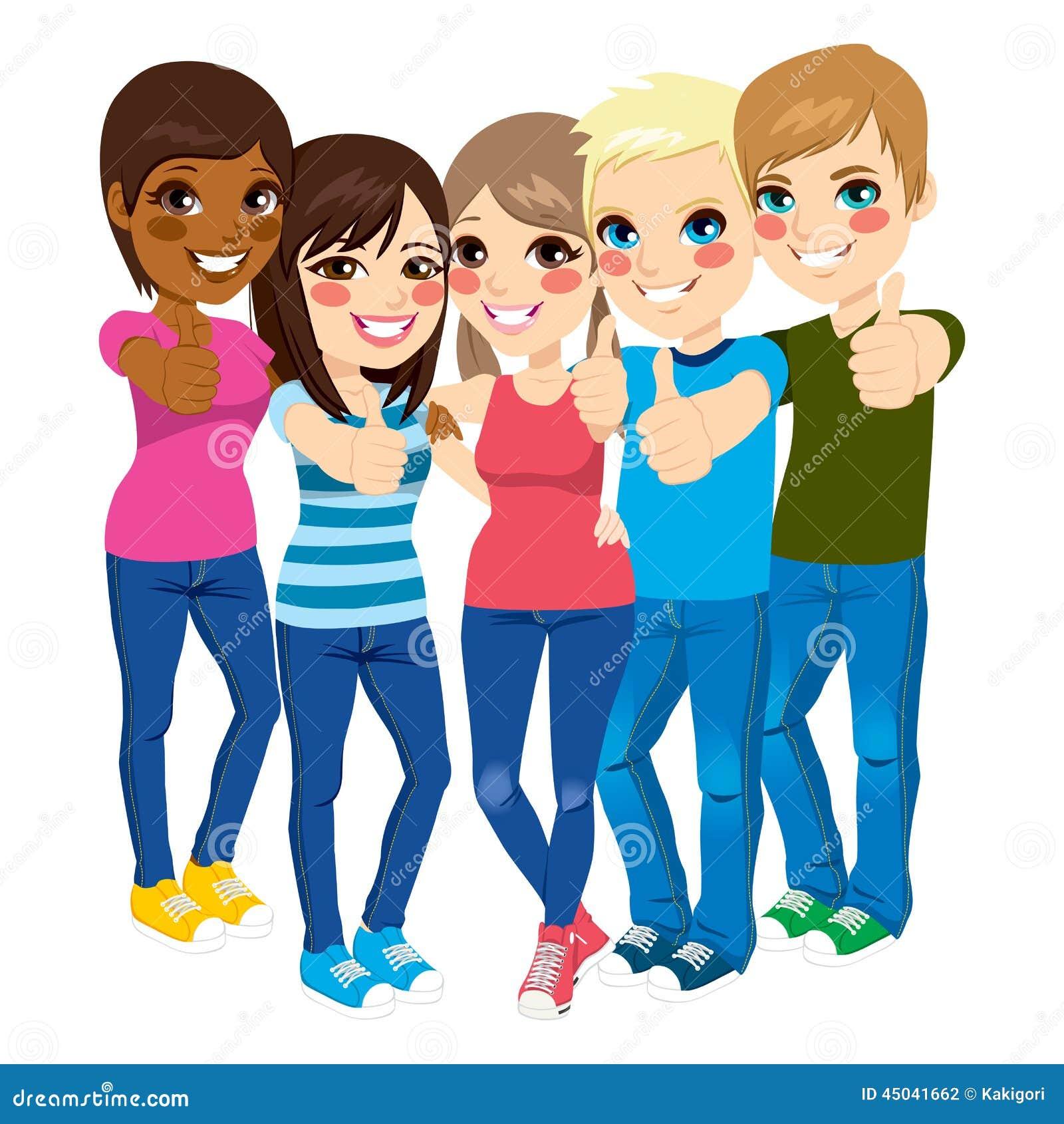 Pulgares derechos de los adolescentes para arriba for Derechos de los jovenes