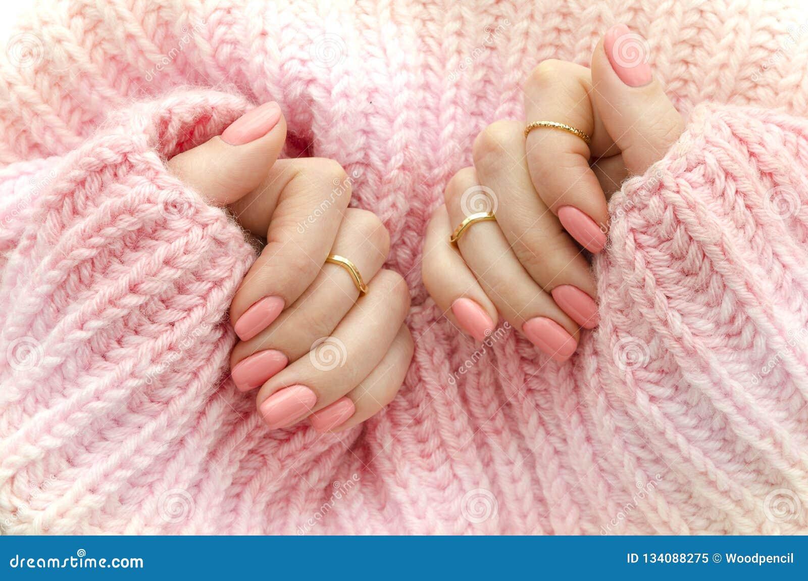 Pulimento De Clavo Art Manicure Esmalte De Uñas Rosado Del