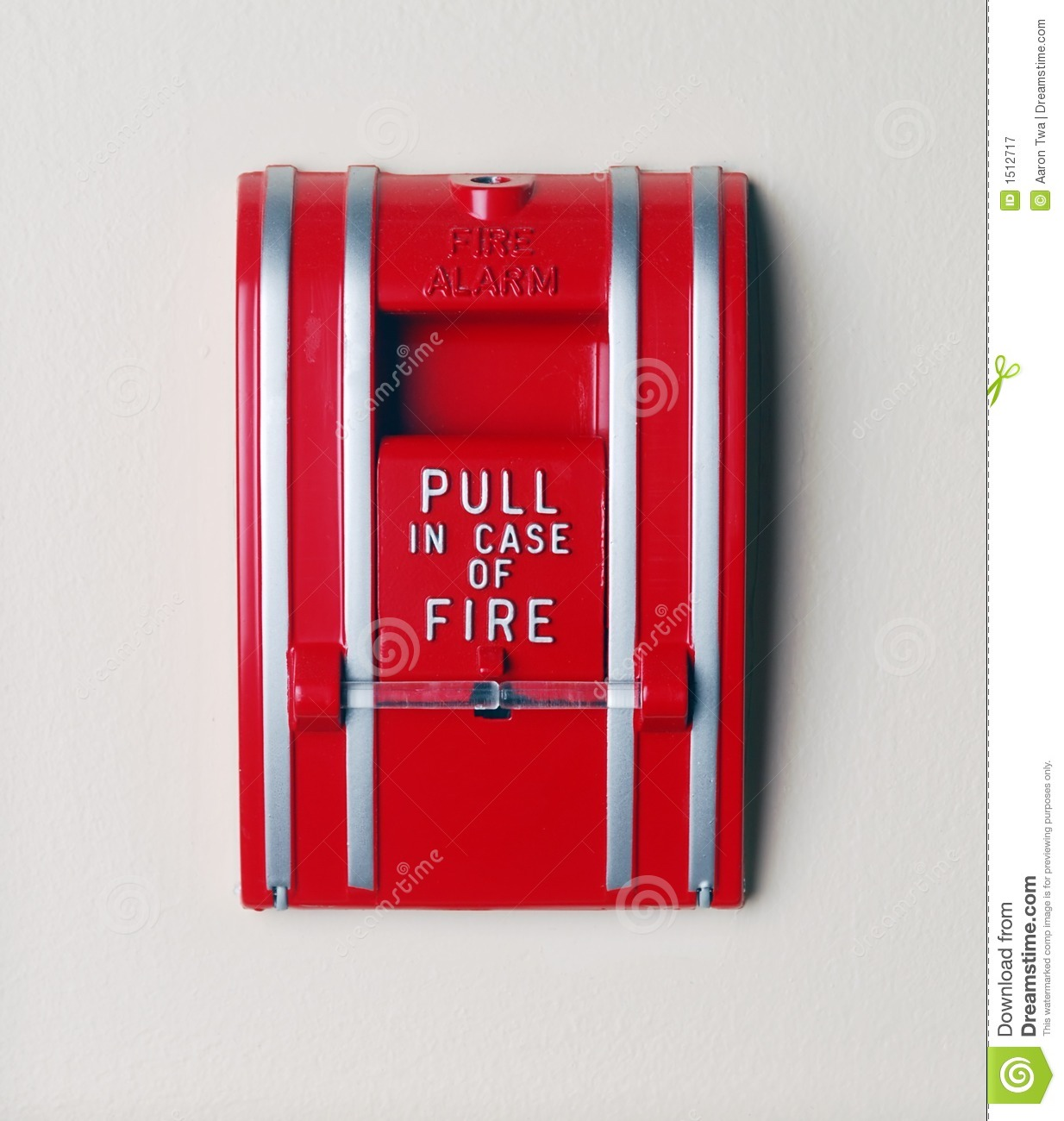 Royalty Free Stock Photography Pull Case Fire Image1512717 on sign fire alarm sound