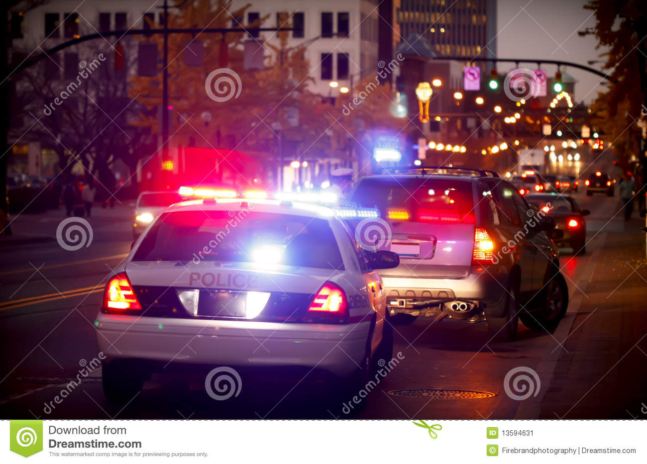 Pulled over by police car