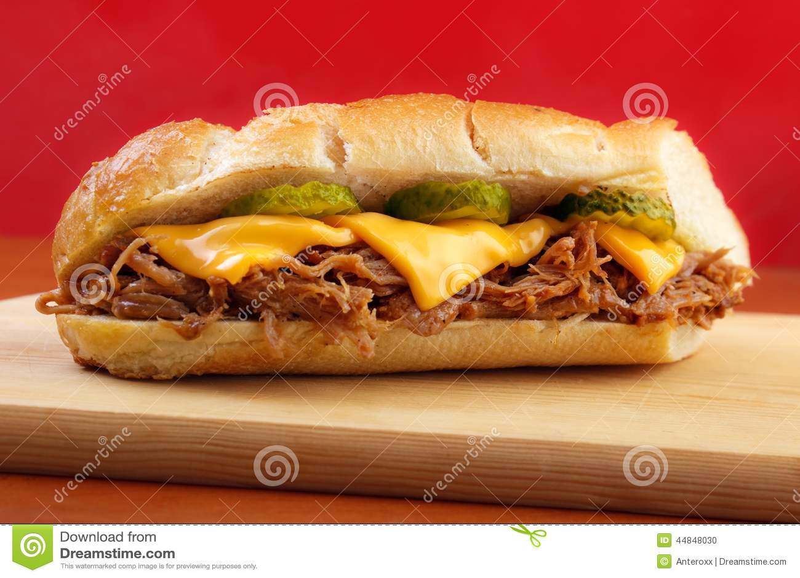 Fast Food Bbq Pork Sandwich