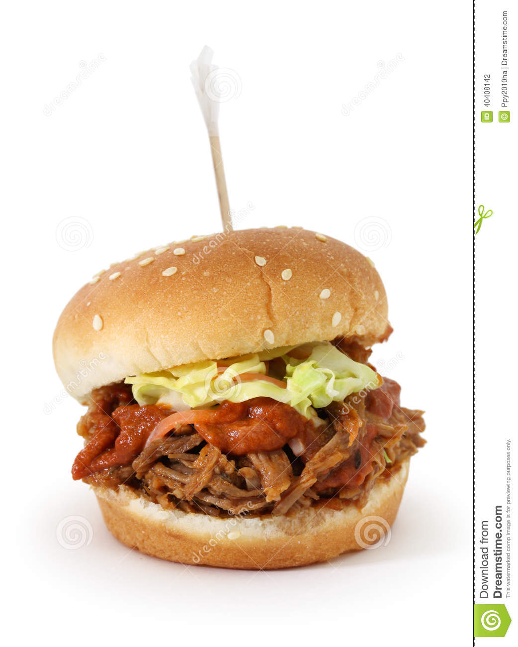 Pulled Pork Sliders Stock Photo. Image Of Background