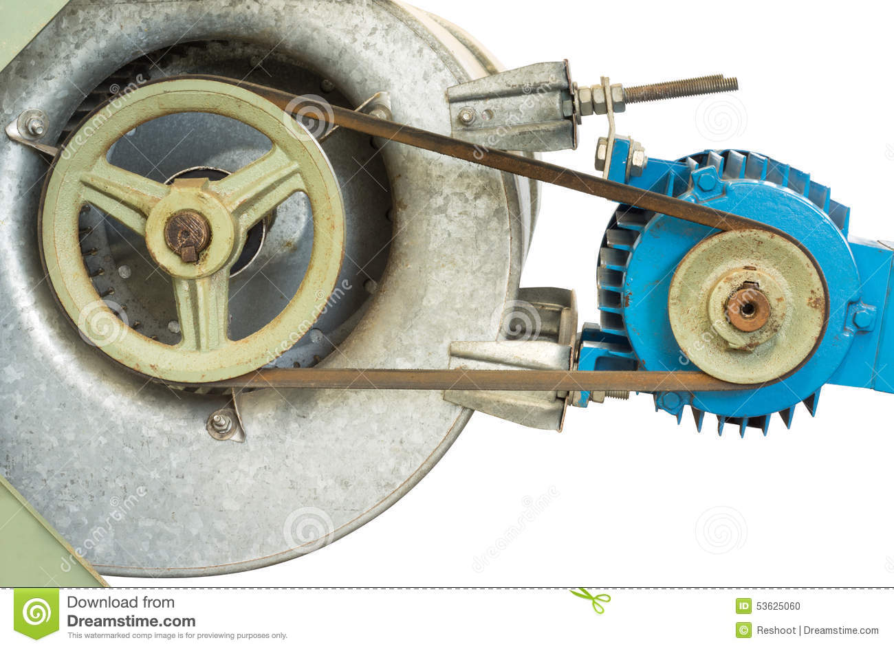 Pulley And Motor Stock Photo Image 53625060