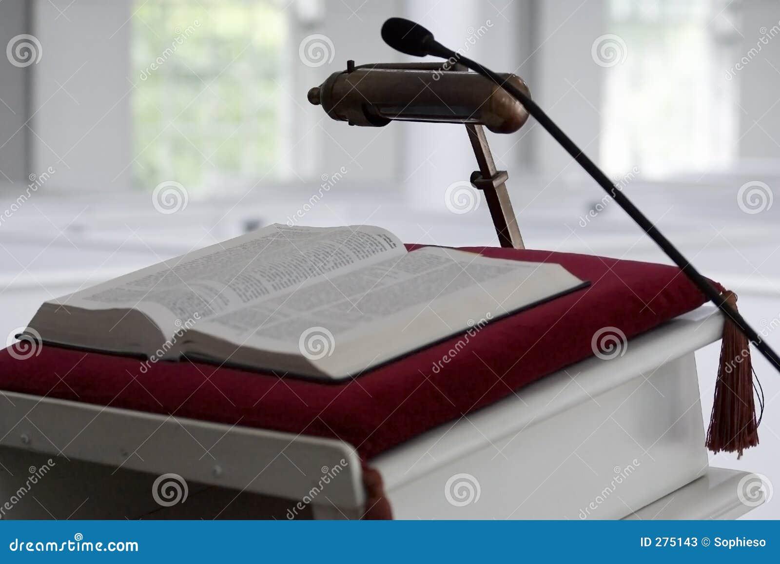 Pulpit εκκλησιών Βίβλων
