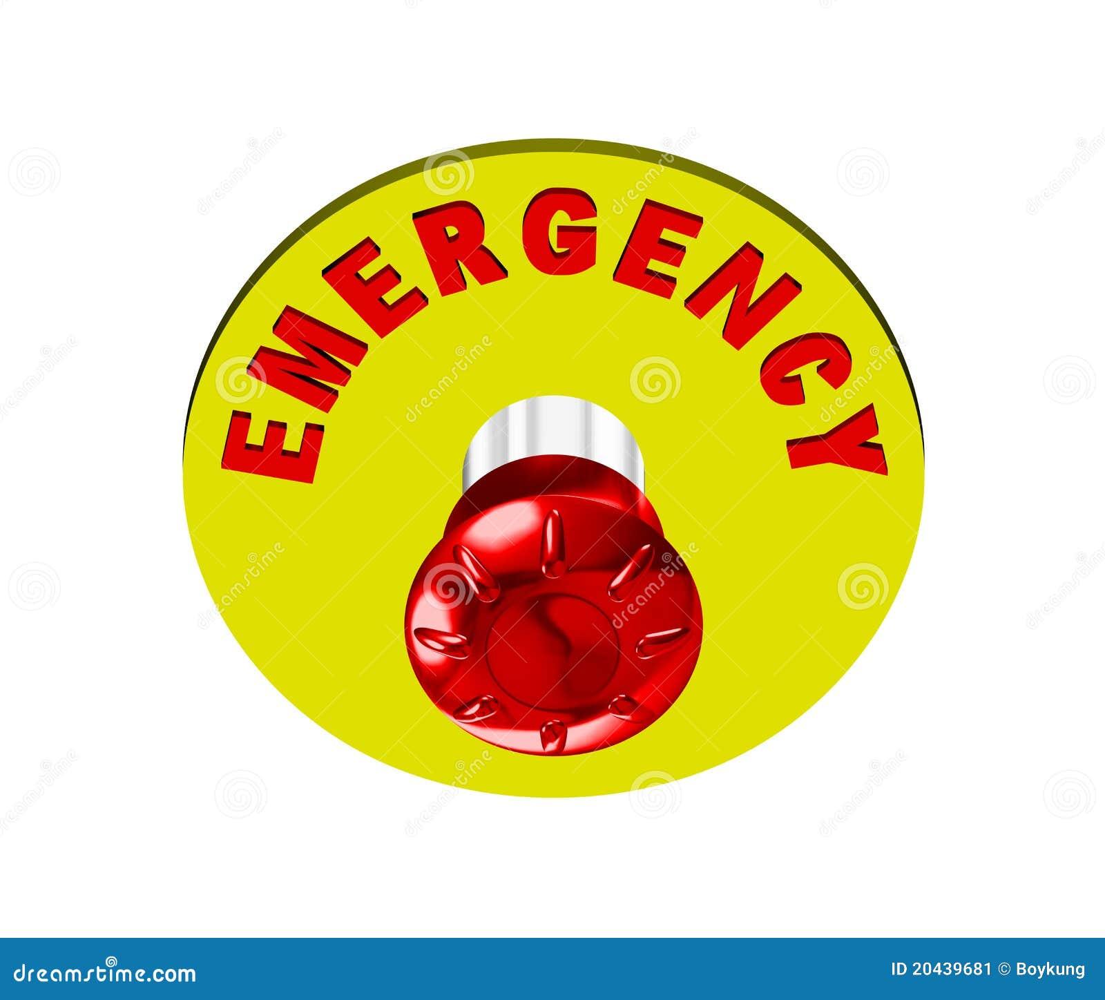Pulsante di emergenza immagine stock immagine 20439681 - Letto di emergenza ...