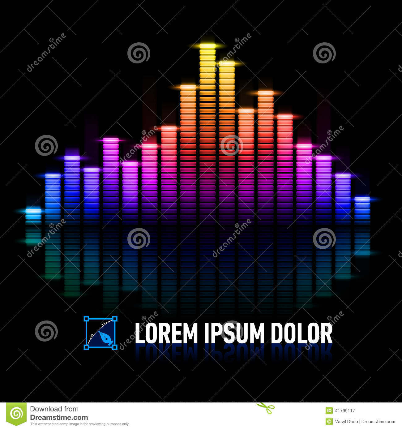 Pulse of music stock vector. I...