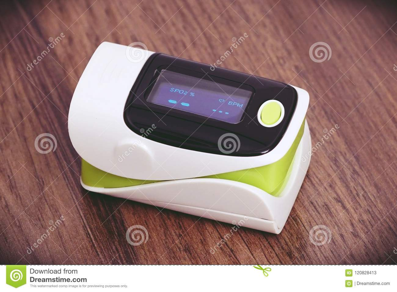 Pulse Oximeter With OLED Screen Stock Image - Image of pulse