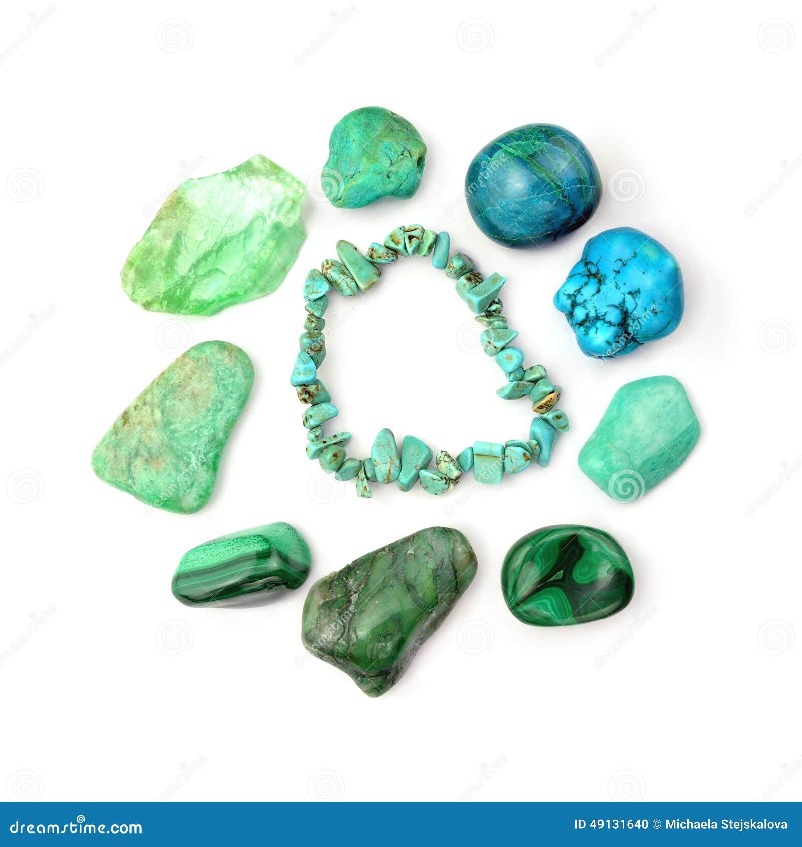 Pulsera de la turquesa y piedras preciosas semipreciosas for Piedra preciosa turquesa