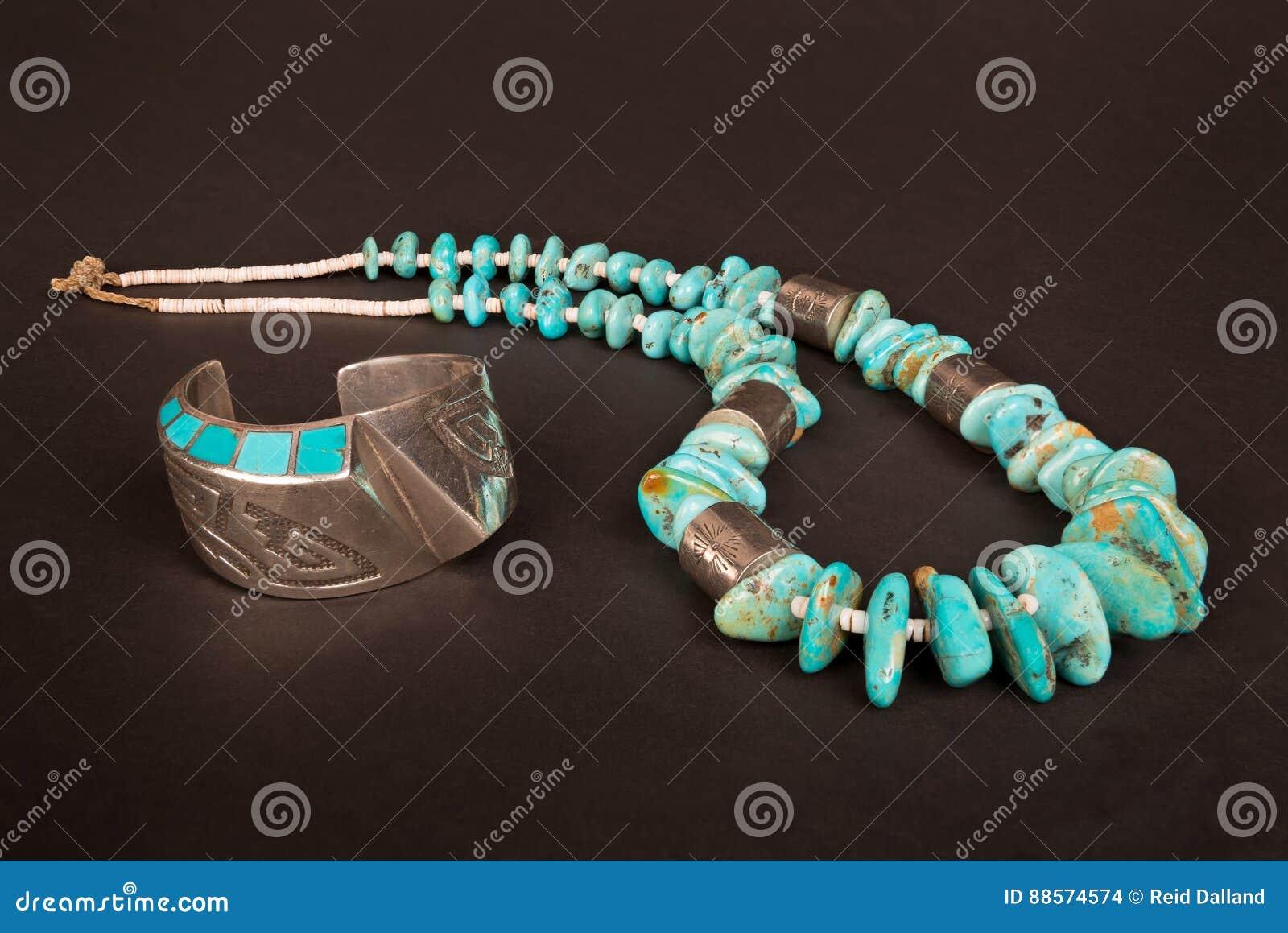 Pulsera del puño de la plata del nativo americano del vintage y pepita grande de la turquesa