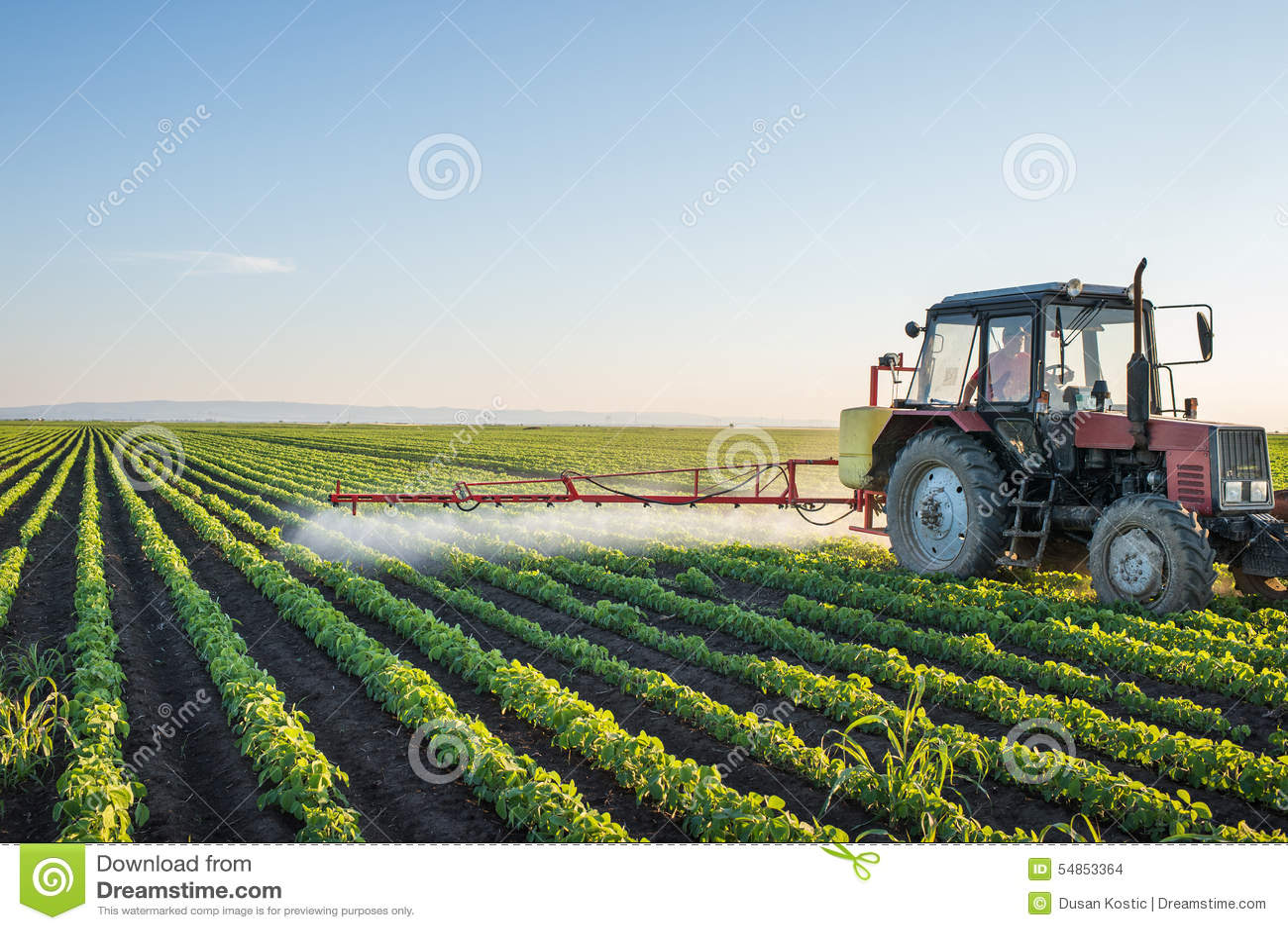 Pulvérisation de tracteur