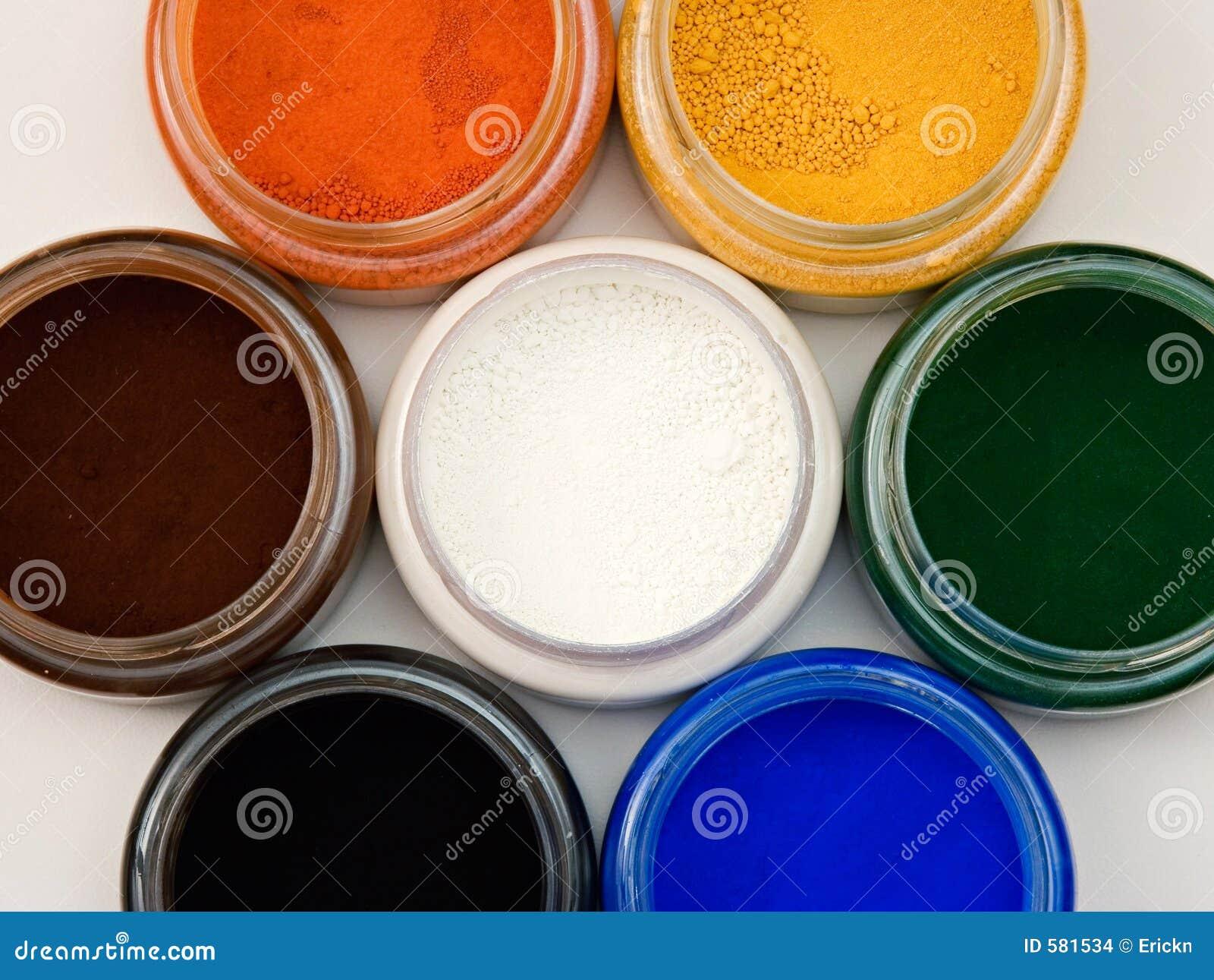 Pulverice los pigmentos