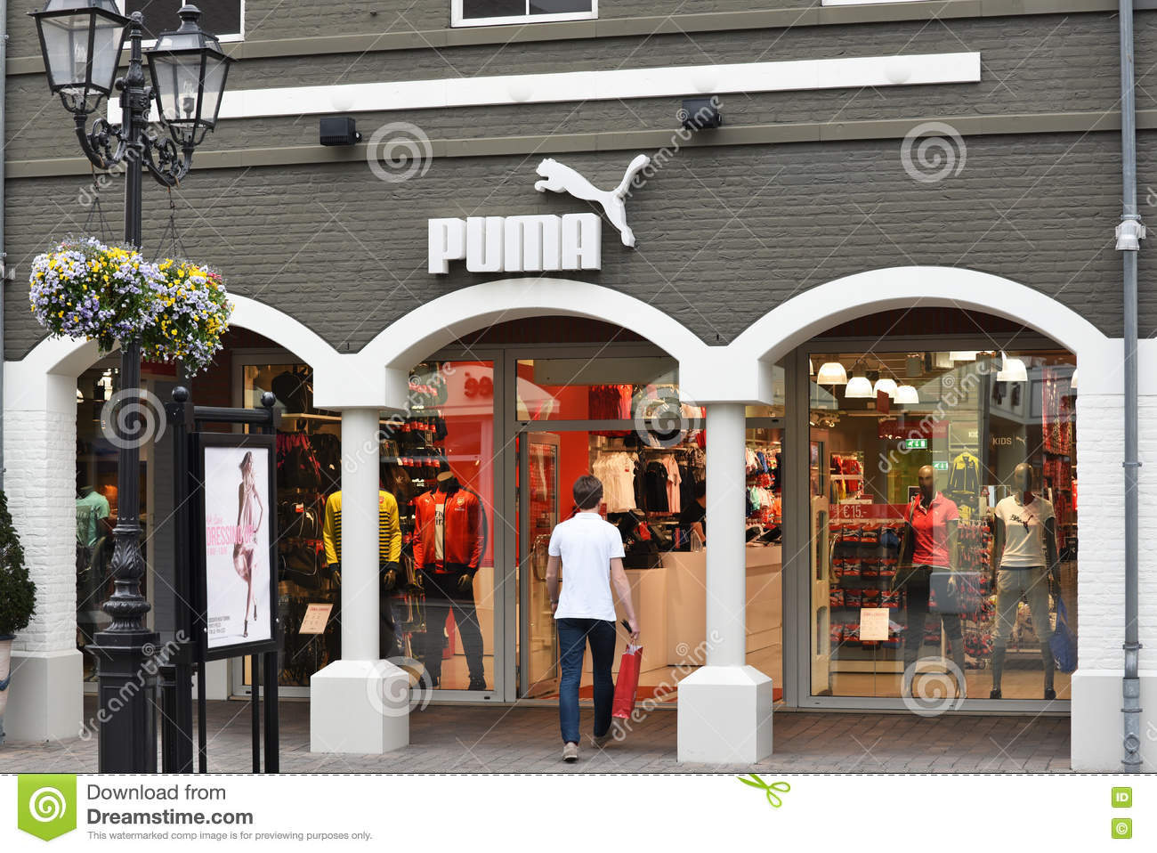 Puma brand shop editorial stock image image of german for Outlet design