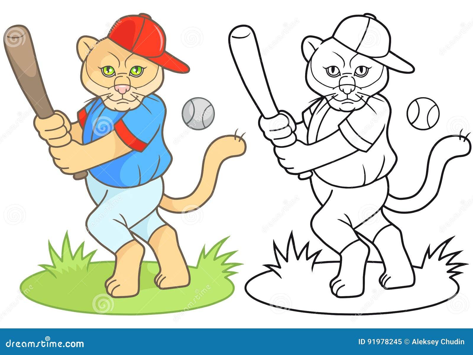 Puma gracz baseballa iść uderzać piłkę