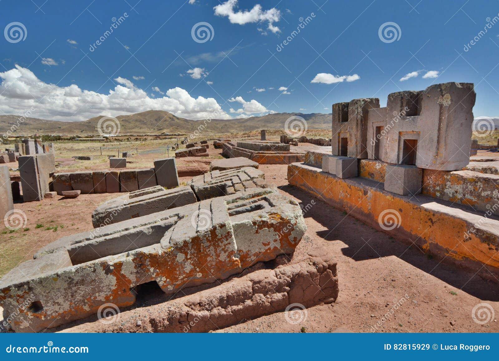 Pumapunku Tiwanaku archeologiczny miejsce Boliwia