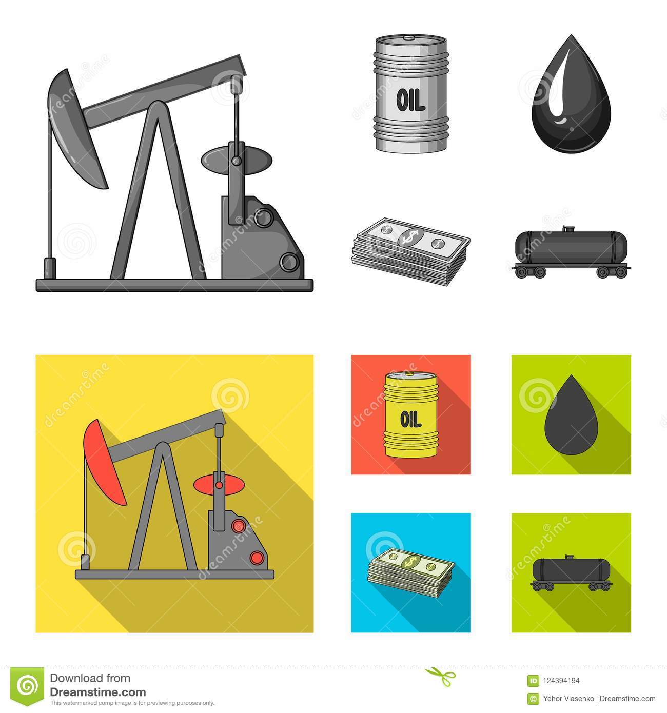 Pump Barrel Drop Petrodollars Oil Set Collection Icons In