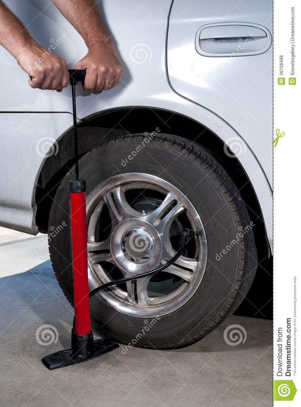 A To Z Tire >> Pump car tire with air stock photo. Image of rubber, pump - 26108496
