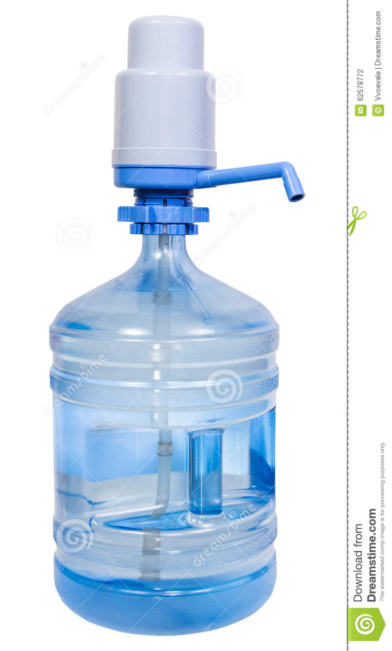 pump dispenser on 5 gallon drinking water bottle stock photo image 62578772. Black Bedroom Furniture Sets. Home Design Ideas